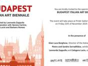 MEGHÍVÓ A BUDAPEST ITALIAN ART BIENNALERA - 2019. NOVEMBER 22., 18 ÓRA