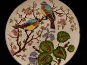 Schütz Cilli dísztál madár dekorral
