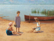 Gyerekek a parton