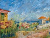 Mediterrán táj (Cros de Cagnes látképe)