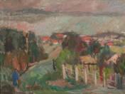Balatoni táj házakkal