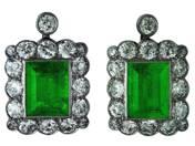 Fülbevaló pár smaragddal