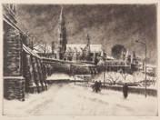 Mátyás templom télen