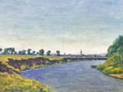 Bank of a brook