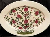 Zsolnay Oval Dish with flower motifs