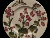 Zsolnay decor bowl with flower and butterfly decor