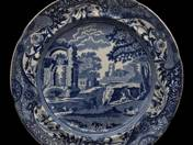 English dinner plate with Arcadia scene 3 pcs