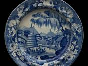 Angol lapos tányér keleti dekorral 4 db