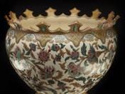 Zsolnay Óriáskaspó aljjal, perzsa dekorral