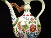 Zsolnay Kettle with Folk Decor