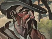 Kalapos férfiportré