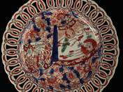 Pierced Plate with Imári Decoration