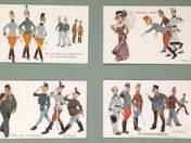Ismeretlen: 28 db keretezett karikatúrás képeslap