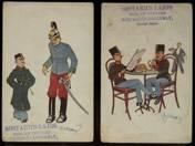 4 pcs Austrian World War postcard caricature
