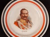 Dísztányér Vilmos császár portréjával 1914/15
