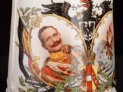 Bögre Ferenc József és Vilmos császár portréjával
