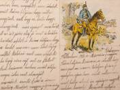 Letter paper with Hussar 1 March 1915