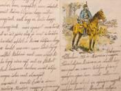 Huszáros levélpapír 1915 március 1