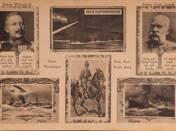 Ferenc József és Vilmos császár képeslap Pola és Fiume