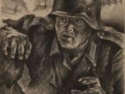 Sostarics Lajos: Harctéri rajzok 9 db