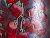 Zsolnay váza gyűszűvirág és cseresznyefa dekorral, 1899
