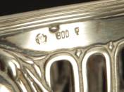 German Silver Footed Offering Bowl