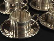 Pest Silver Coffee Cups for 6 Persons