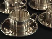 Pesti ezüst kávéscsésze 6 személyes