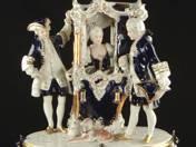 Royal Dux rokokó jelenet