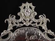 Bécsi rokokó ezüst kínálótál