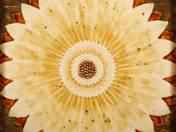 Zsolnay csempe lótusz dekorral