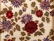 Zsolnay csempe virág dekorral