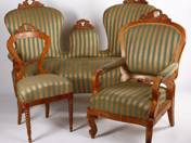 Late-biedermeier, 7 pcs salon set