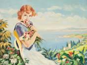 Lány a Balatonnál