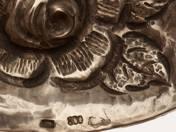 Csehszlovák ezüst kínáló tálka