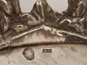 Pesti ezüst áttört kínáló tál
