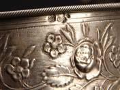 Prágai ezüst bonbonier üvegbetéttel