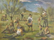 Soldiers at harvest