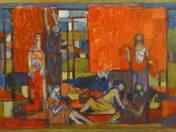 Paprikafűzők I. (1958) goblein-terv