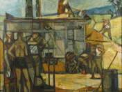 Cséplőgépnél (50-es évek vége)