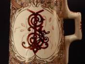 Zsolnay korsó japán dekorral