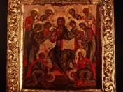 Krisztus szentekkel körülvéve Ikon