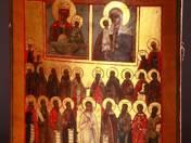 Istenanya a Gyermek Jézussal  Szentekkel Ikon
