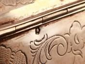Bécsi ezüst cukordoboz kulccsal