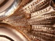 Bécsi ezüst szecessziós kínálótál