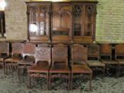 15 darabos Neoreneszánsz ebédlőgarnitúra (asztal nélkül)