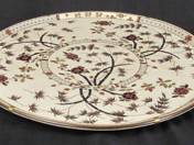 Zsolnay plate with bamboo decor