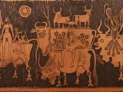 Emberpár tehenekkel