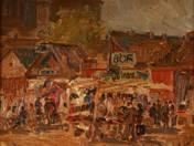 Papucs piac a Teleki téren, 1924