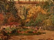 Részlet az Erzsébet térről, 1924
